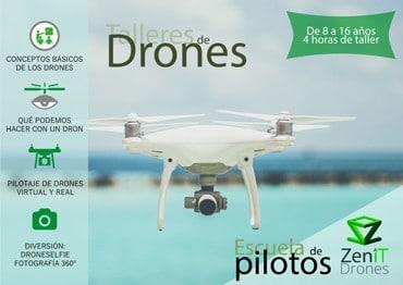 Taller de pilotaje de drones -Zenit Drones Zenit Drones