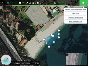 Opciones Pausa y Ejecución Área de Mapa 3D