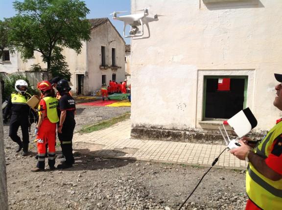 Simulacro del 061 con Carlos Romero retransmitiendo en tiempo real - Zenit Drones