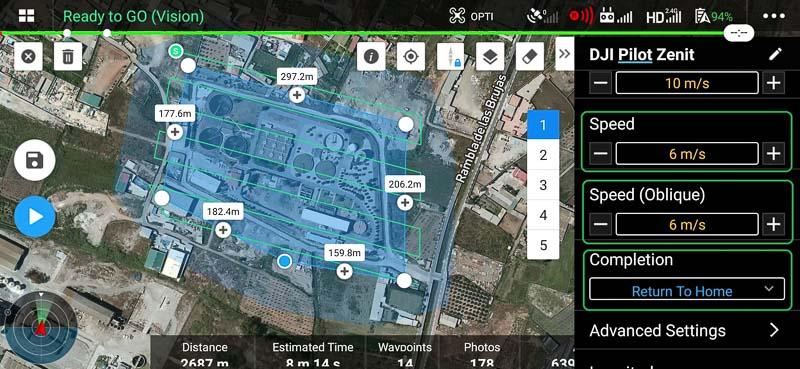 8_Velocidad_misiones_DJI_PILOT_Zenit_Drones